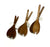 Handmade wooden salad servers
