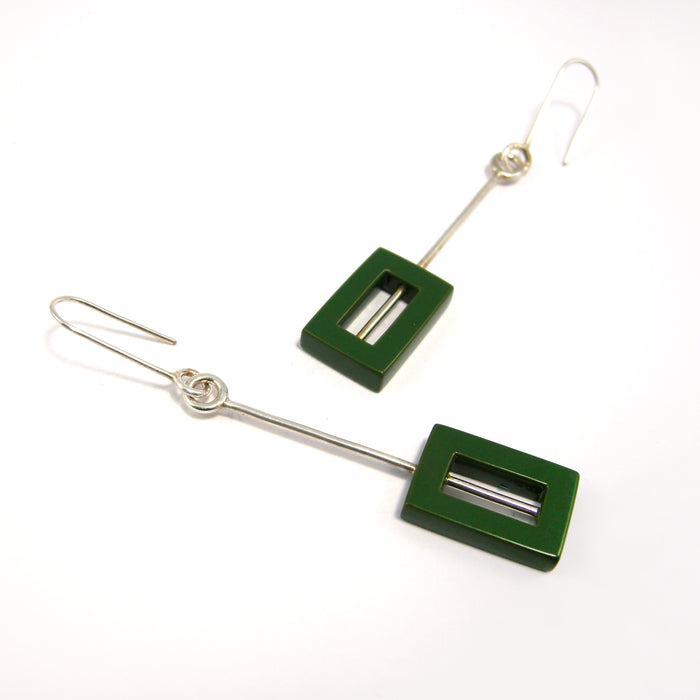 Junction Earrings - Dark Green by Shelbey Dodds