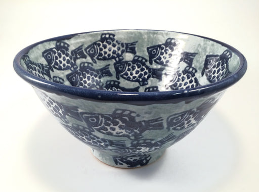 Fish Motif Large Serving Bowl