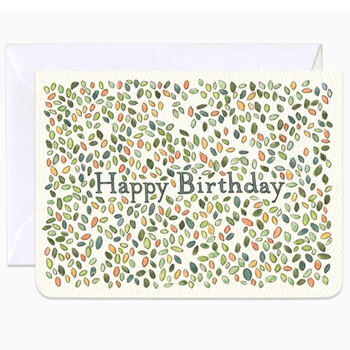 Birthday Leaves Mini Card