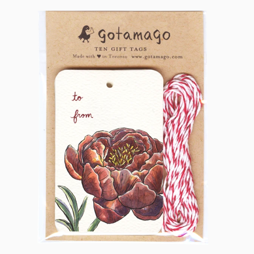 Peony Gift Tags, Set of 10