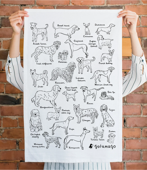 Alphabet Dogs Tea Towel