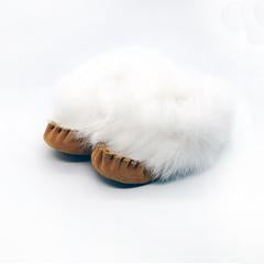 Baby Moccasins with Fur Trim