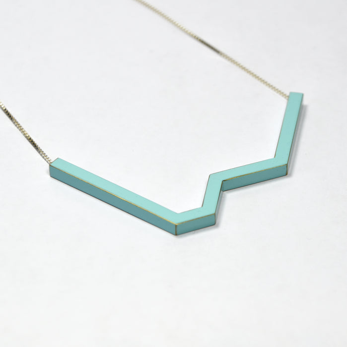 Large Angled Pendant Necklace