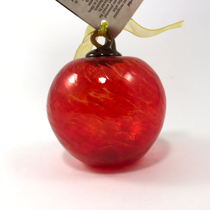 Red Apple Glass Ornaments