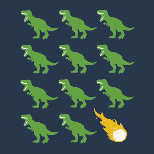 Dino Dino Asteroid! T-shirt, Adult