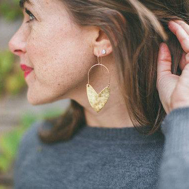 Tulip Shield Earrings