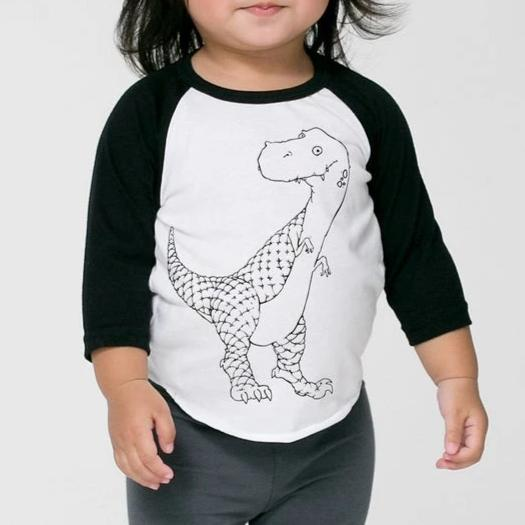 Happy Dino Baseball Tee, Toddler