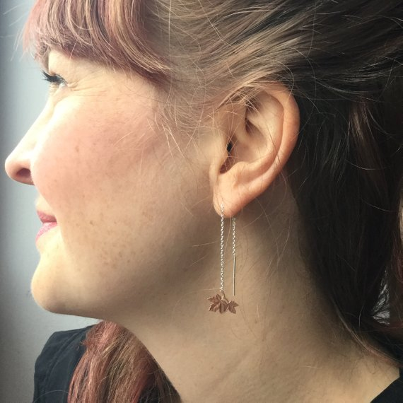 Maple Leaf Dangle Earrings