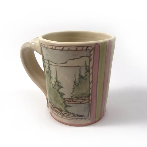 Window Scenery Tapered Mug