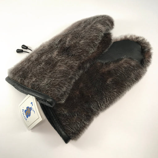 Seal Fur Mens Mittens
