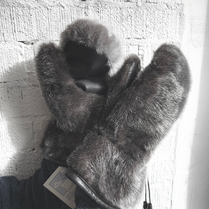 Seal Fur Men's Mittens