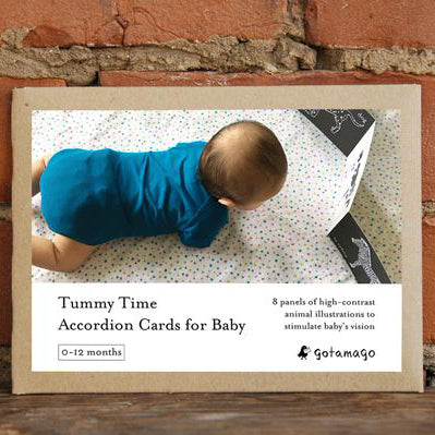 Tummy Time Accordion Cards