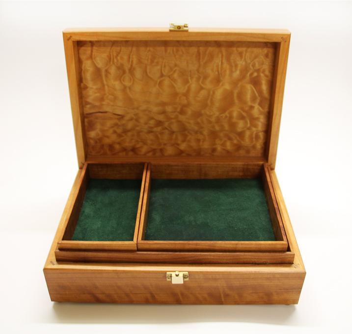 Jewellery Box made of Fruitwoods