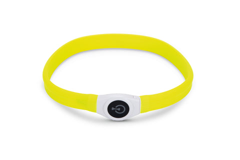 BEEZTEES SAFETY GEAR LED HALSBAND+USB GLOWY 65X2,5 CM