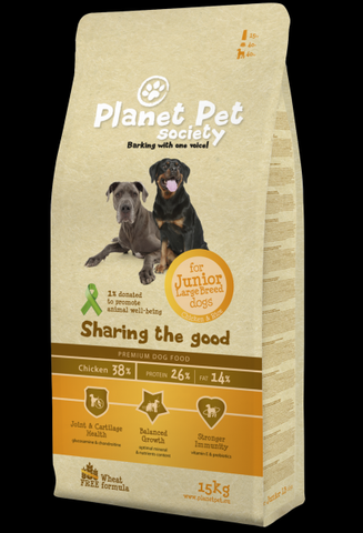 Planet Pet Junior Large Breed Chicken & Rice