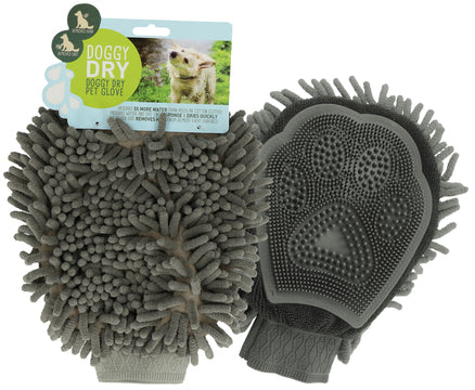 Doggy Dry Pet Glove (DIRTY DOG GROOMING HANDSCHOEN GRIJS)