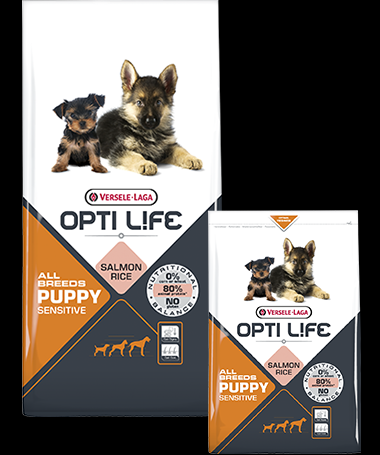 Opti Life Puppy Sensitive Salmon & Rice