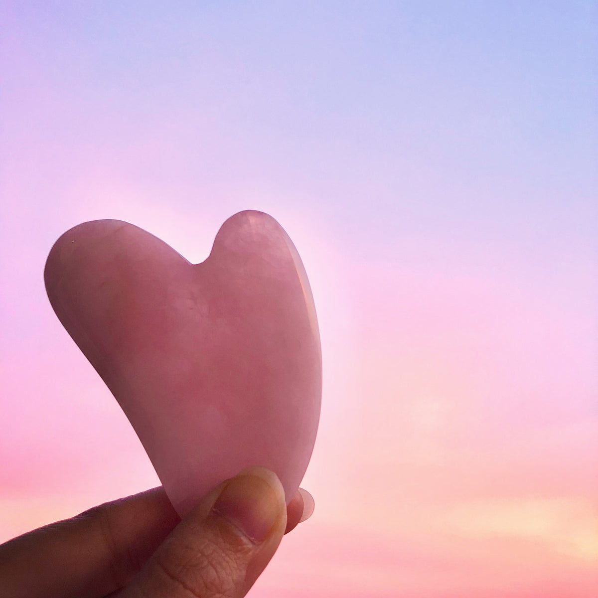 FRANKIE Rose Quartz Heart Gua Sha