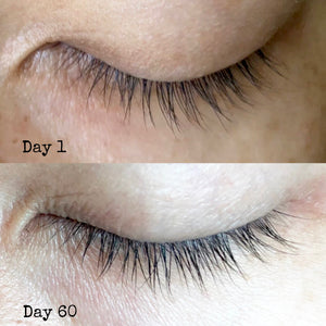 Flutter Lash & Brow Oil before and after comparison
