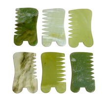 FRANKIE Jade Comb Gua Sha shades of green