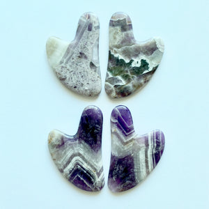 Amethyst Gua Sha patterns