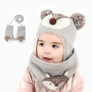 bonnet snood bébé