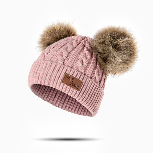 bonnet enfant rose