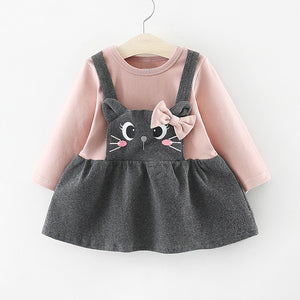 robe bebe fille chat