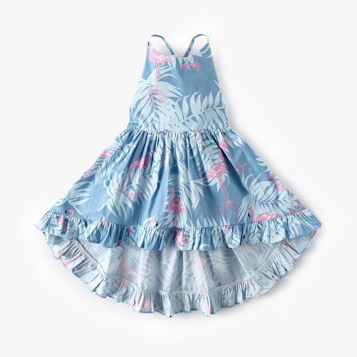 robe fille flamant rose