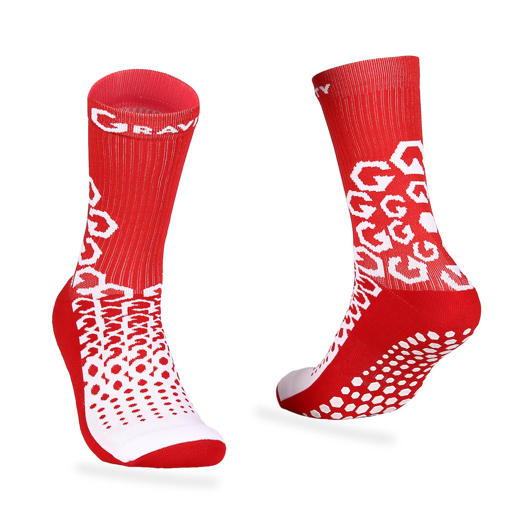 Gravity Performance Grip socks Red