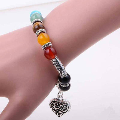 LOVE and VITALITY Bracelet of 7 chakras