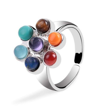 Chakra-Flower of life ring of 7 chakras-WorldOfChakras