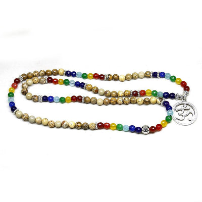 Chakra-Mala of healing of the 7 chakras composed of 108 pearls.-WorldOfChakras