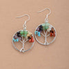 Earrings «Tree of life of the 7 Chakras in natural stones