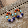 Earrings 7 natural stone chakras