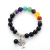 7 Chakras Energy Bracelet made of natural stones