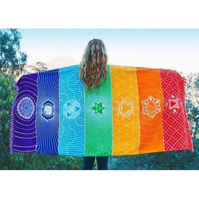 Canvas of the 7 Chakras - Made of Cotton