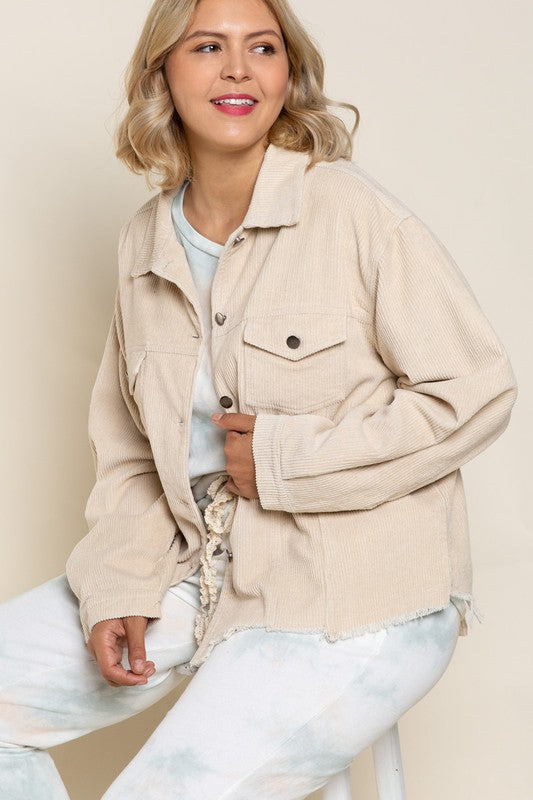 White Corduroy Jacket