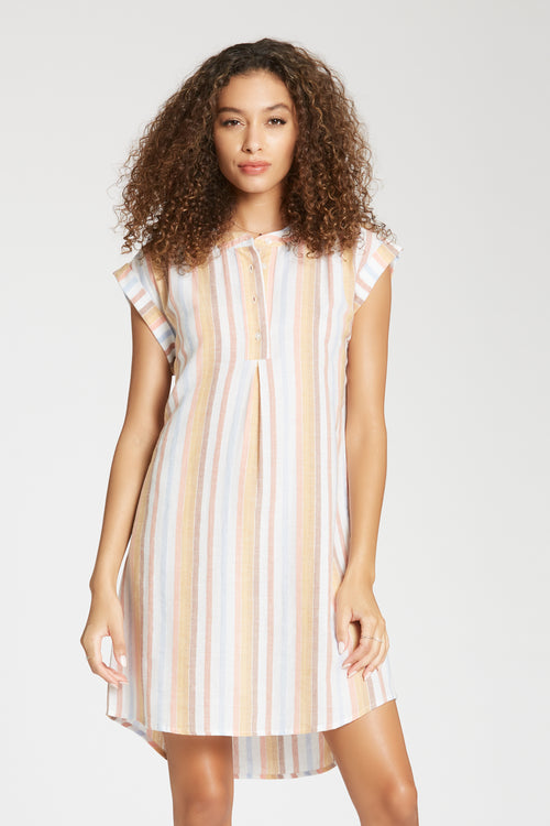 Marigold Stripe Mae Dress