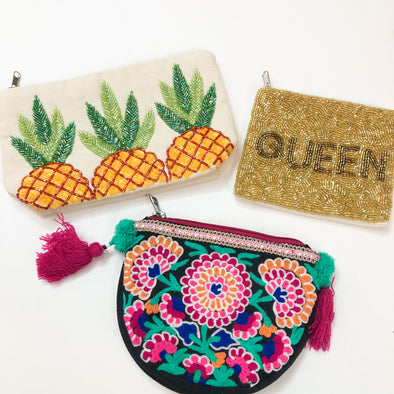 Mini Beautiful Beaded Coin Purses