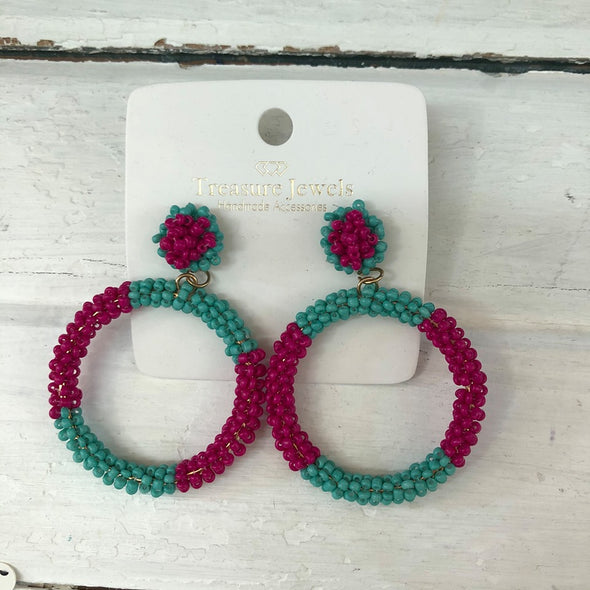 Aster Pink Earring