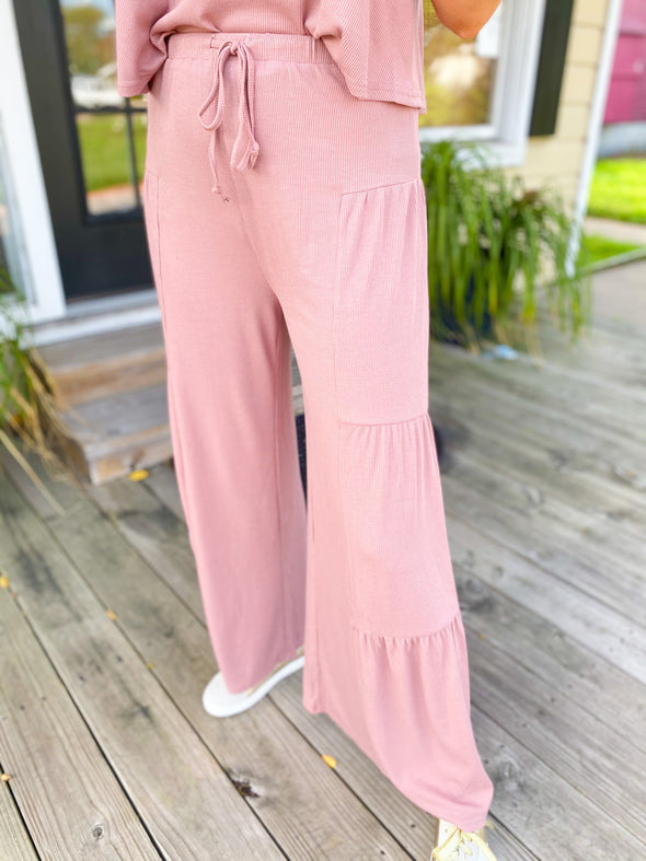 Blushed Ribbed Set (TANK+CULOTTES)