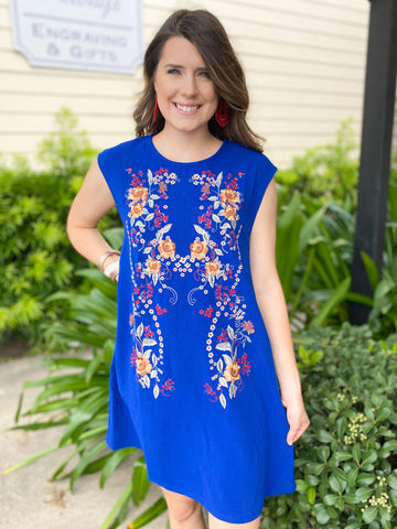 Blue Multi Tie Dye Dress