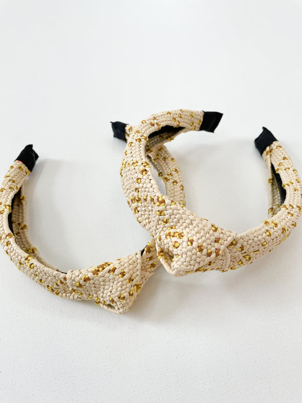 Raffia Knotted Headbands