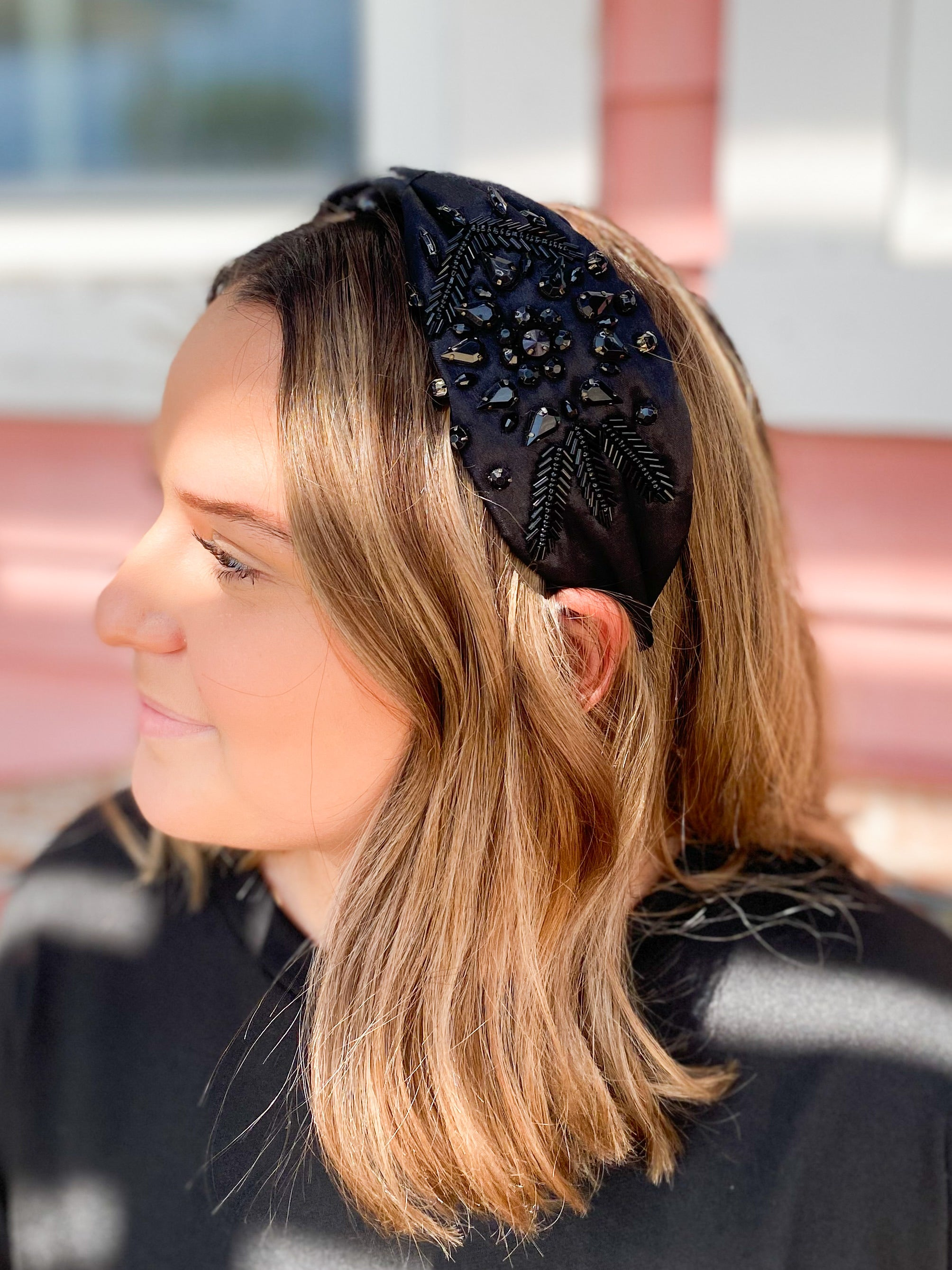 Chic Crystal Black Headband