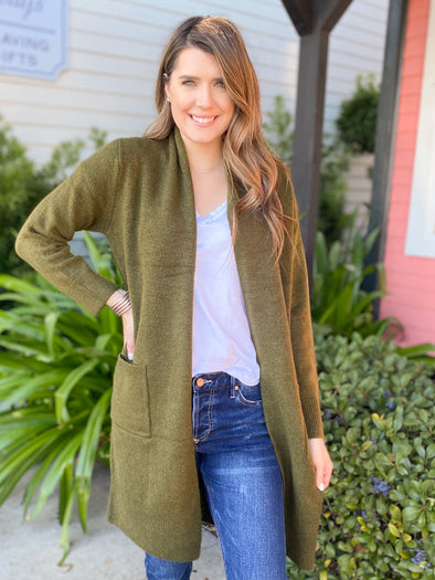Olive Sweatercoat Jacket