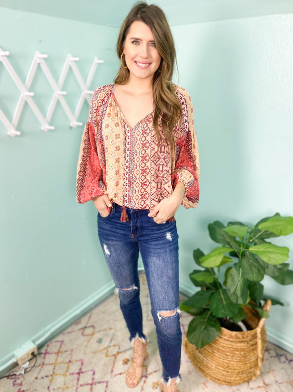 Blush Multi Marrakesh Printed Top