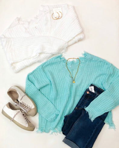 Knit Distressed Sweater