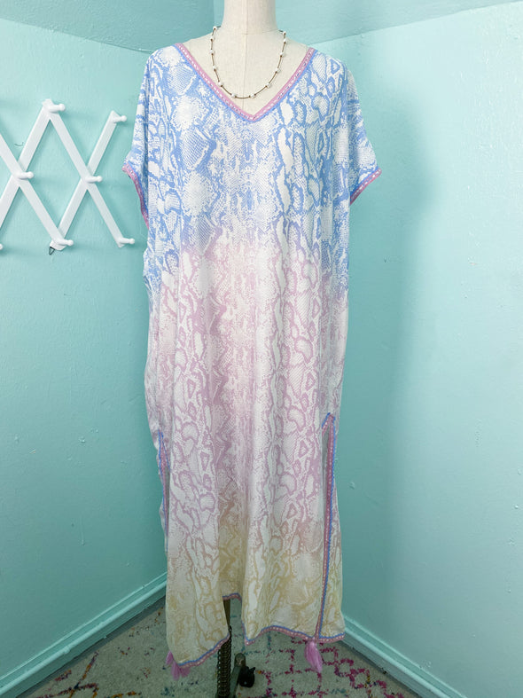 Ombre Snakeskin Coverup